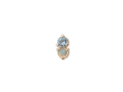 Opal & Aquamarine Antique Double Stud