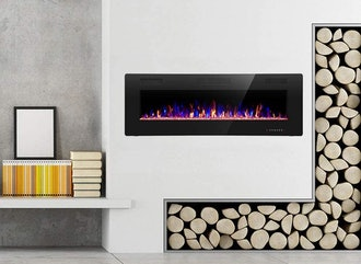 R.W.FLAME 42-Inch Recessed and Wall-Mounted Fireplace