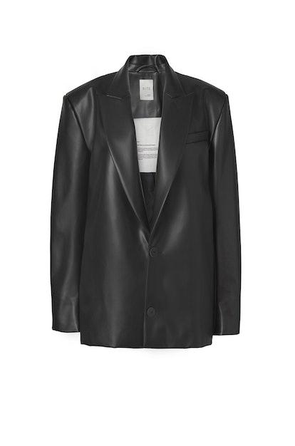 72-5 Vegan Leather Blazer