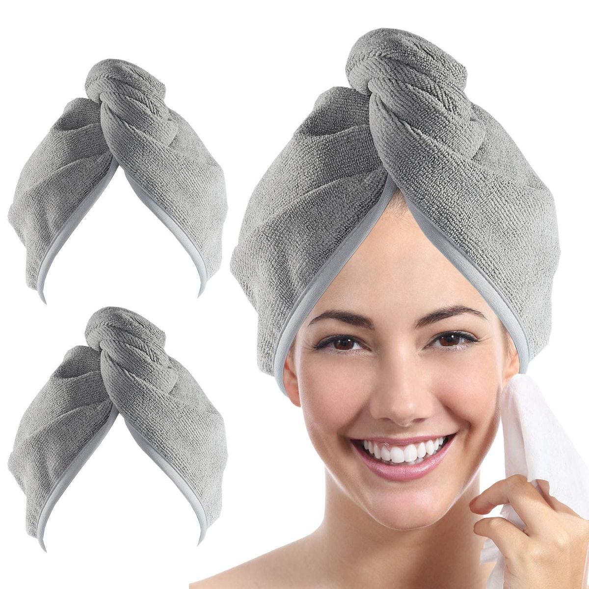 ToulerTex Quick Dry Hair Towel (2-Pack)