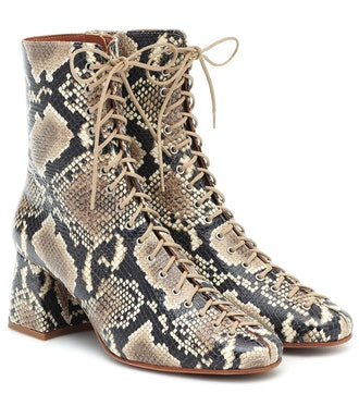Becca lace-up leather ankle boots