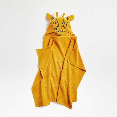 Kids Giraffe Organic Hooded Towel