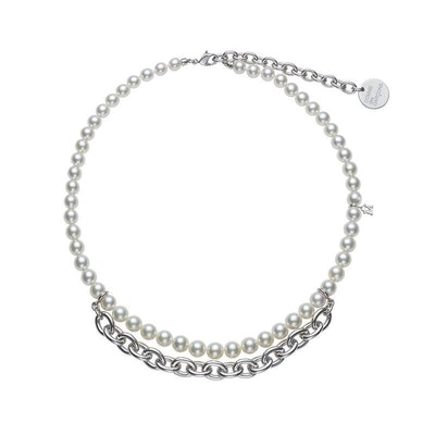 Mikimoto Commes des Garcons Akoya Pearl and Chain Necklace