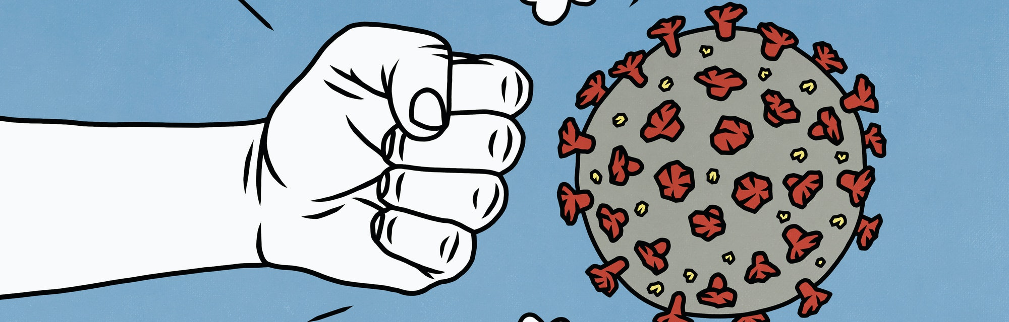 Fighting coronavirus concept illustration.