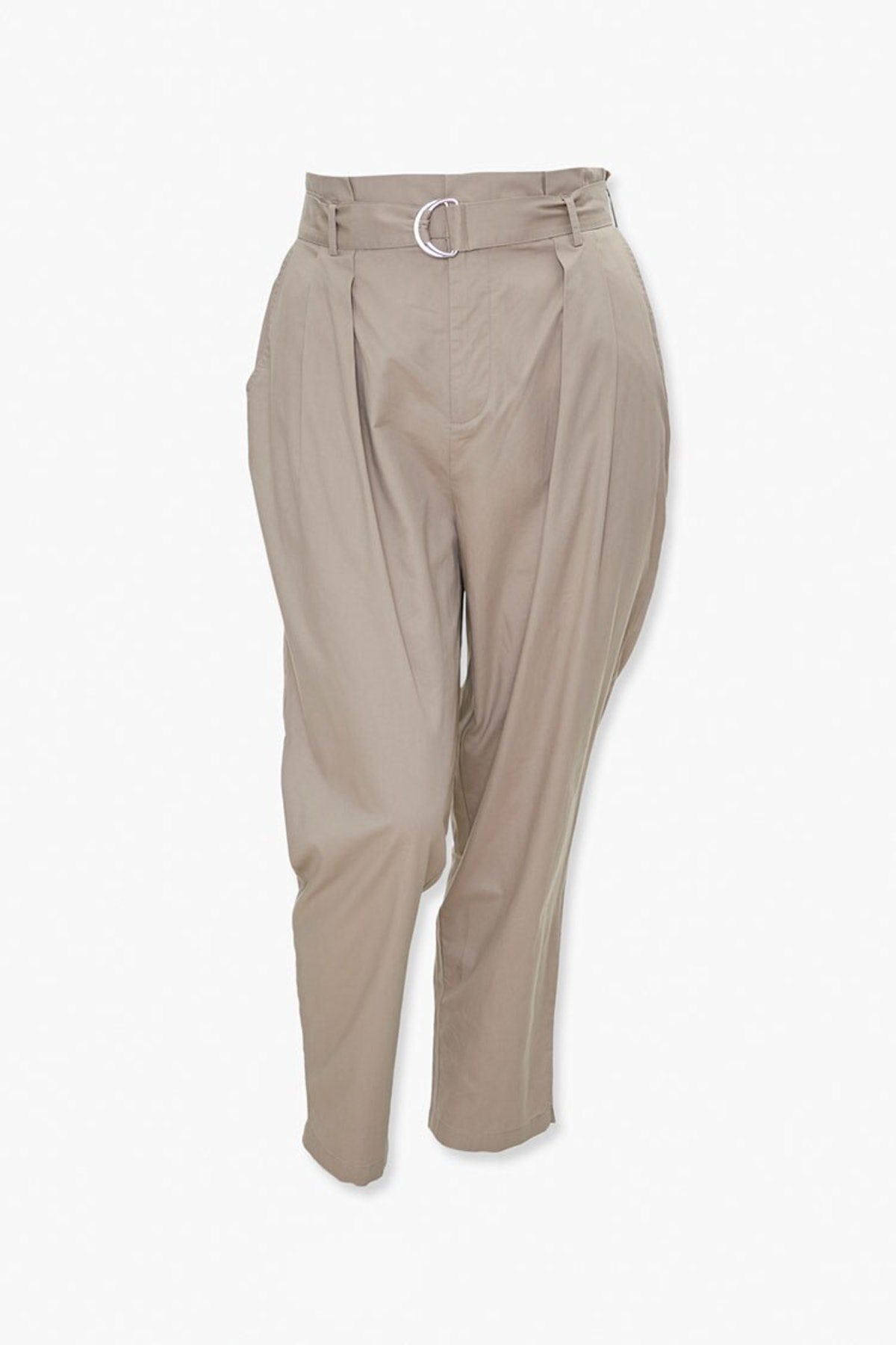 Forever 21 Plus Size Belted Paperbag Pants