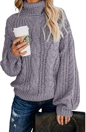 FARYSAYS Cable Knit Sweater