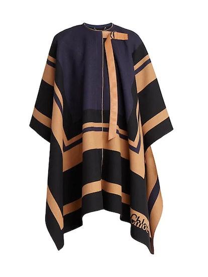 Virgin Wool Blanket Cape