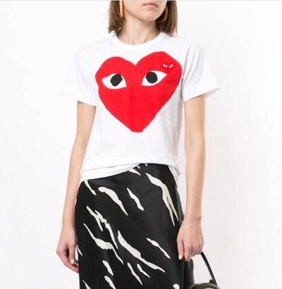 Heart Print Logo Patch T-Shirt