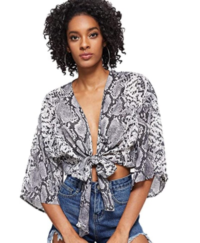 Floerns Bow-Tie Blouse