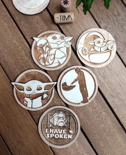 Set of 5 The Mandalorian Coasters