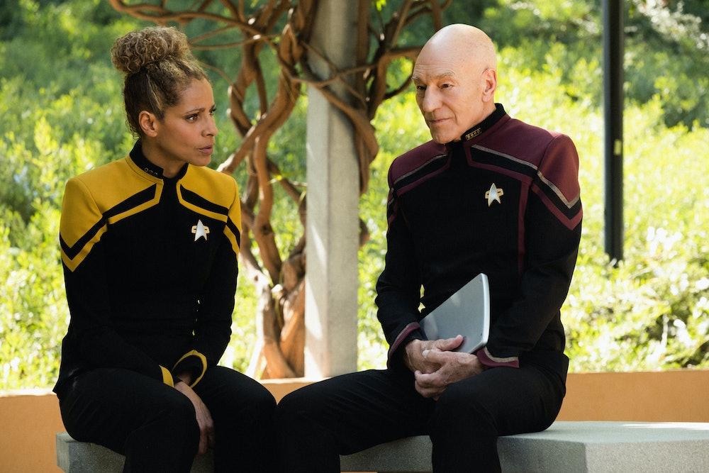 Michelle Hurd's Raffi opposite Patrick Stewart's Picard in Star Trek Picard