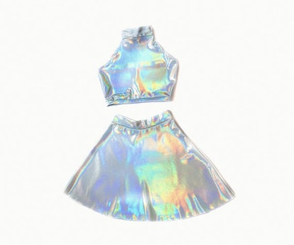 HomeCookedKarma Matching Set, Festival Outfit, Holographic Clothing