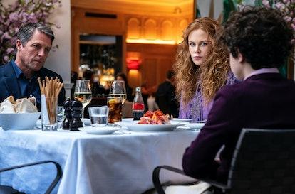 Hugh Grant, Nicole Kidman, and Noah Jupe in 'The Undoing,' via HBO press site.