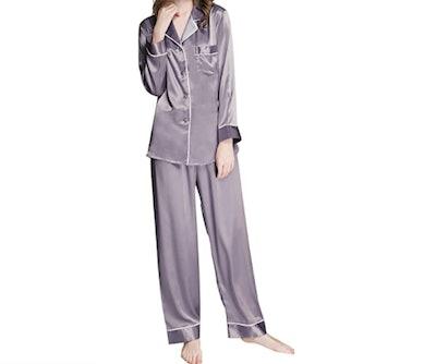 LONXU Satin Pajama Set