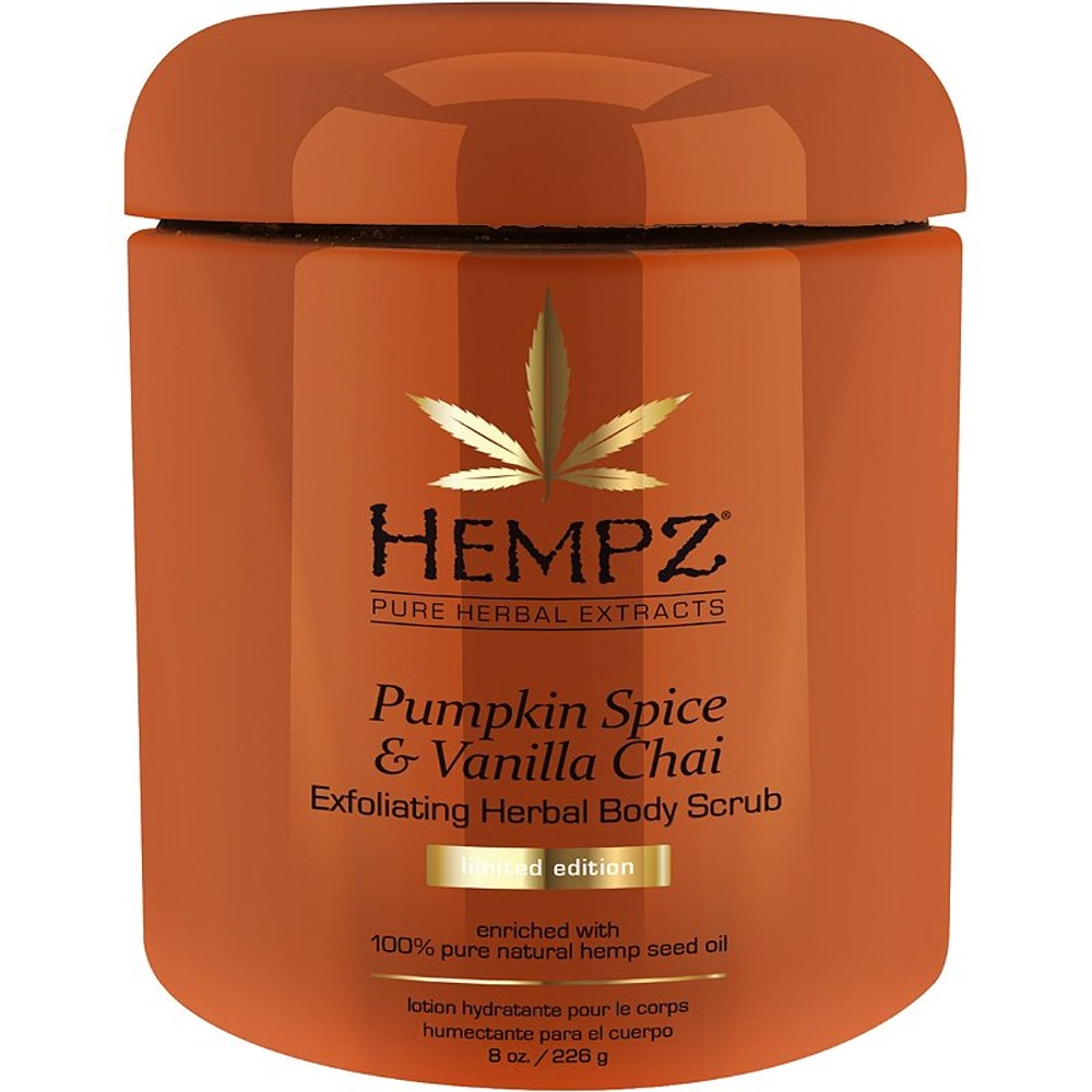 Hempz Pumpkin Spice & Vanilla Chai Exfoliating Herbal Body Scrub