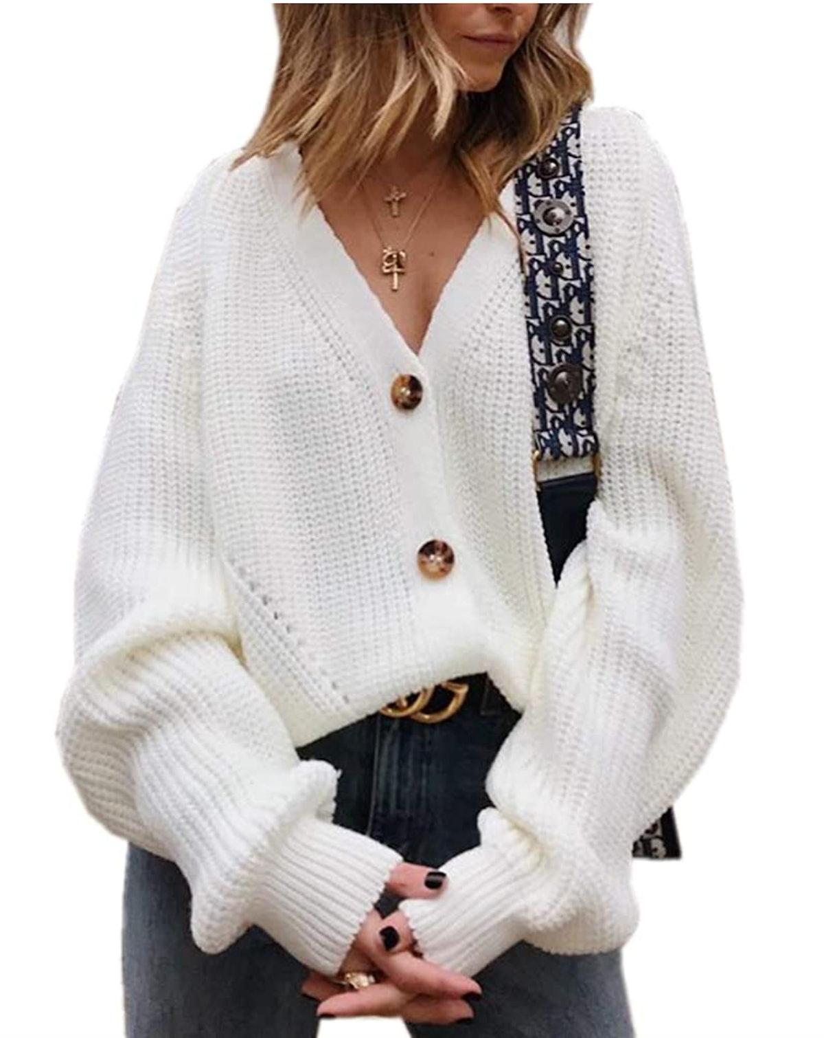 Asskdan Button-Down Cardigan Sweater