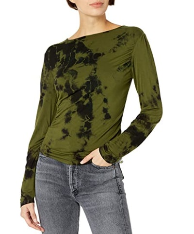 KENDALL + KYLIE Marbled Ruched Top