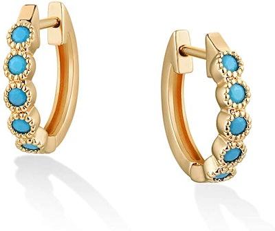VACRONA 18-Karat Gold0Plated Huggie Earrings
