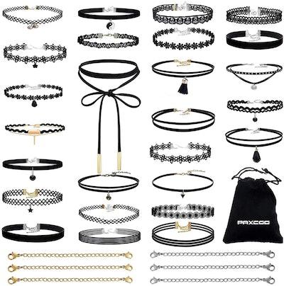 PAXCOO 32 PCS Choker Necklaces Set (26 Pieces)