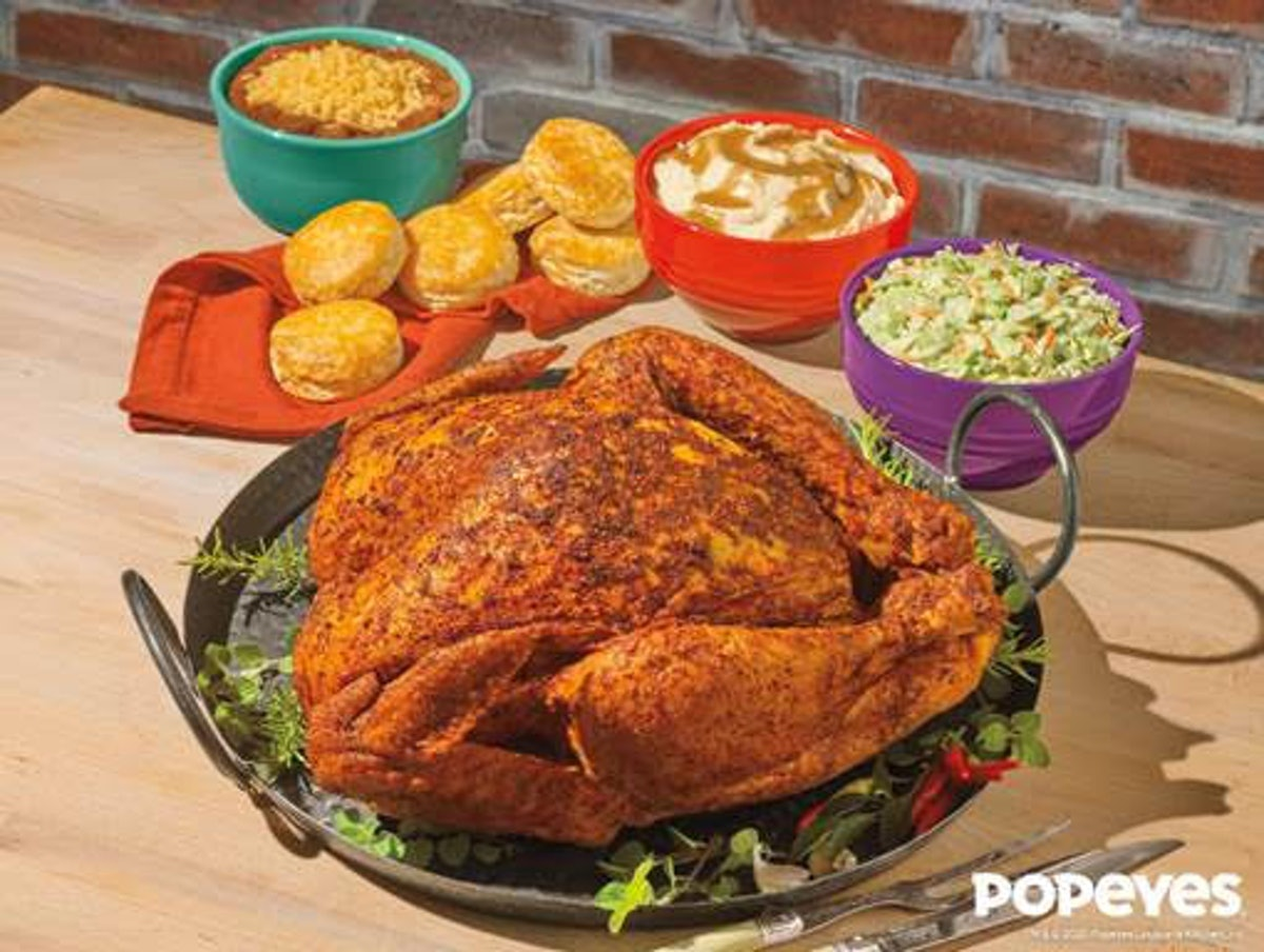 Popeyes' Cajun Style Turkey is under $40.