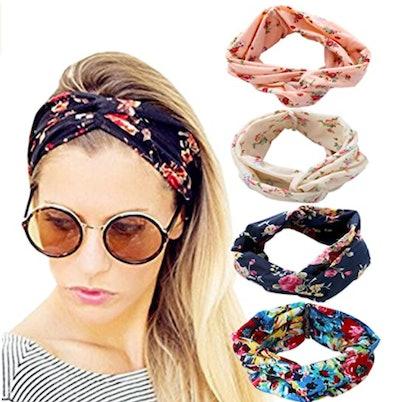 DRESHOW Cross Headbands (4-Pack)