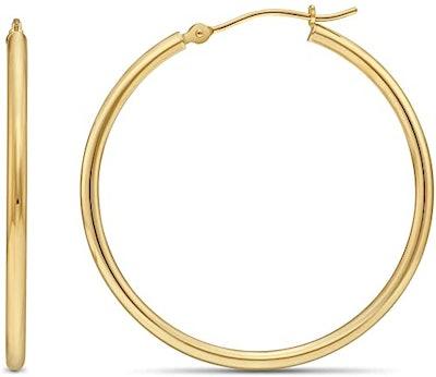 Tilo Jewelry Classic 14-Karat Yellow Gold Hoop Earrings