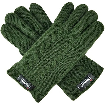 Bruceriver Wool Cable Knit Gloves With Thinsulate