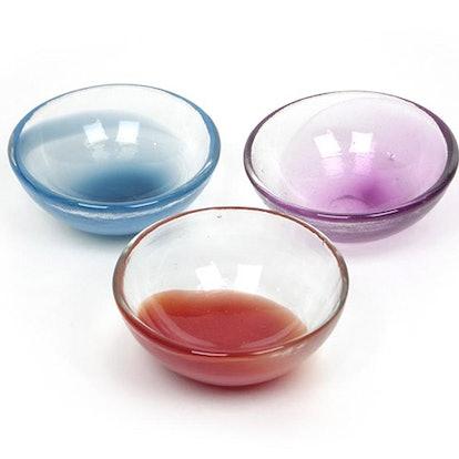 Candy Colored Slump Glass Bowl