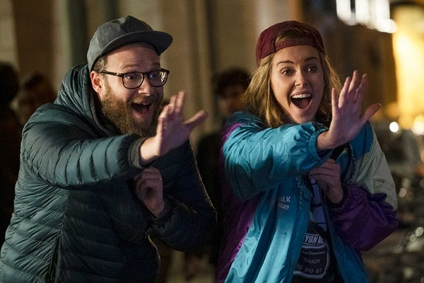 Seth Rogen and Charlize Theron in 'Long Shot'