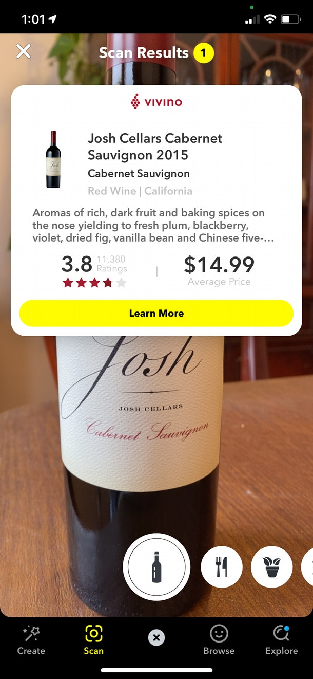 Snapchat's new Wine Scan is a game-changer.