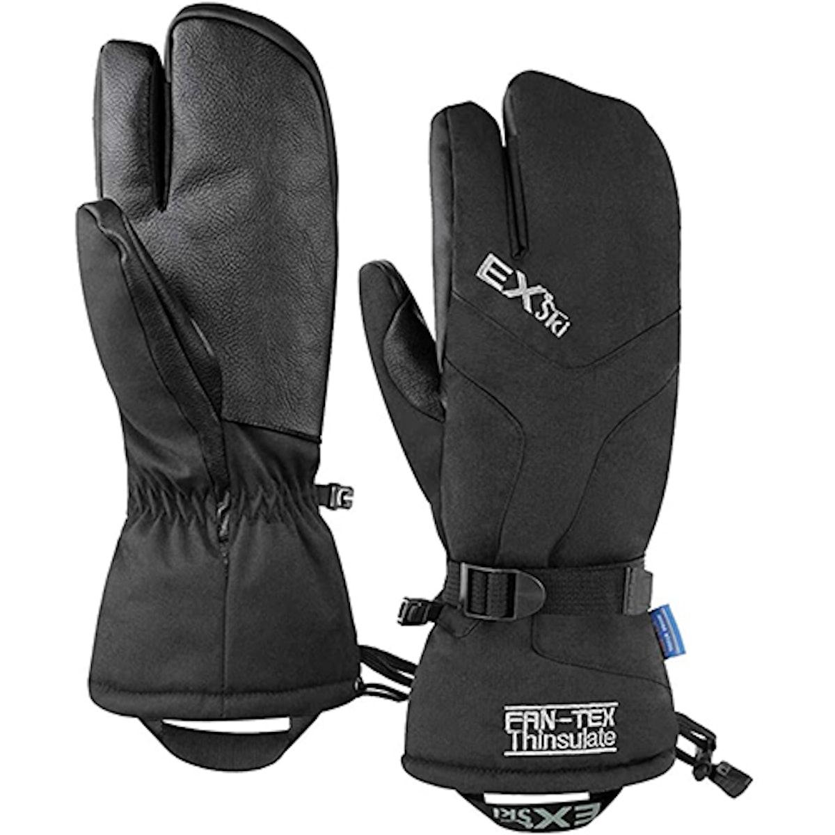 EXski Waterproof 3-Finger Snow Gloves