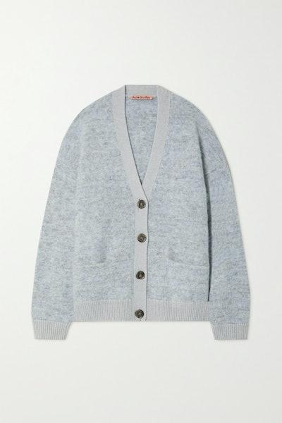 Acne Studios Oversized Mélange Knitted Cardigan