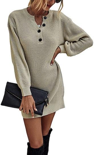KIRUNDO Waffle Knit Dress