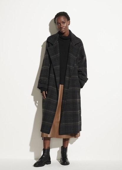 Modern Plaid Coat