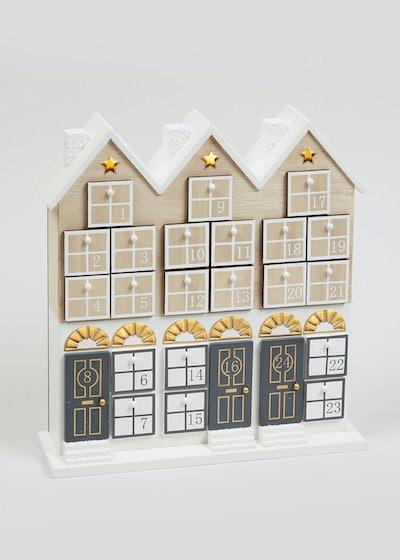 Light-Up Wooden House Advent Calendar