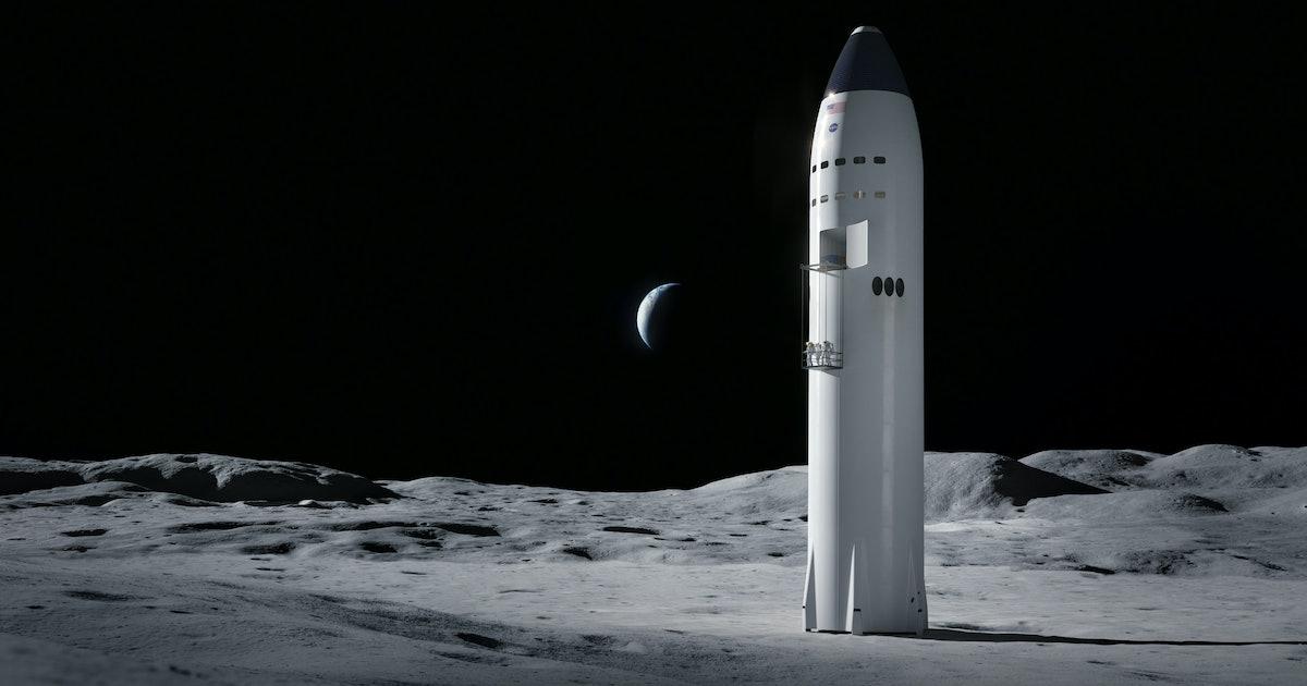 Lunar SpaceX Starship: Stunning photo shows NASA-branded ship taking shape