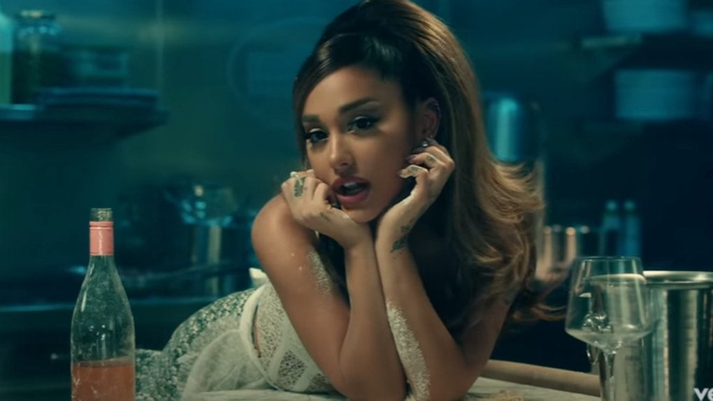 "A screenshot from Ariana Grande's ""Positions"" music video."