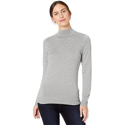 Amazon Essentials Lightweight Long-Sleeve Mockneck Sweater