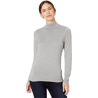 Amazon Essentials Lightweight Long-Sleeve Mockneck Sweater