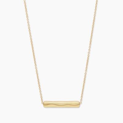 Bespoke Bar Adjustable Necklace (Gold)