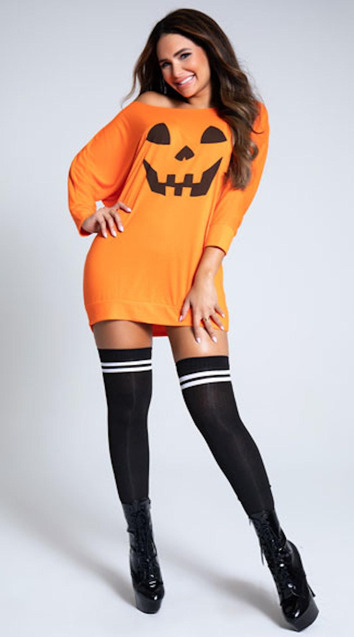 Yandy Loose Pumpkin Tank Dress