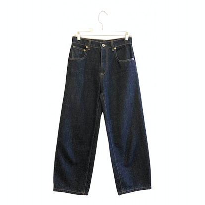 Navy Cotton Jeans