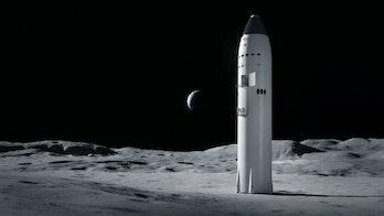 A lunar Starship.