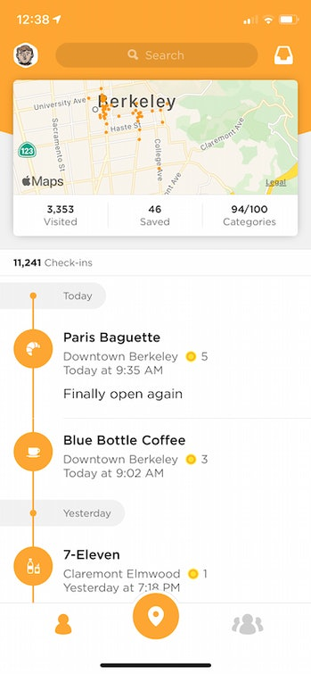 Foursquare's Swarm allows users to create a journal of all the places they've been.
