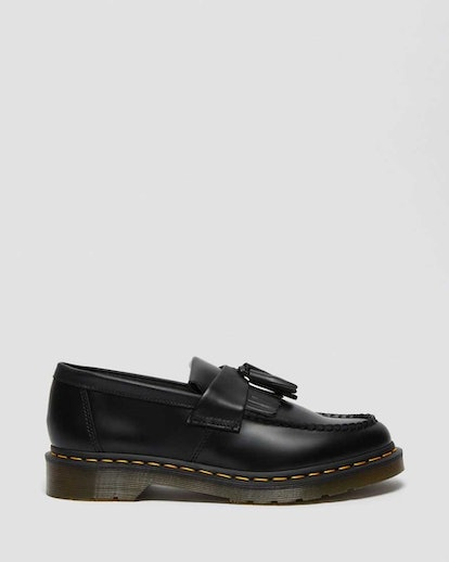 Adrian Yellow Stitch Leather Tassel Loafers