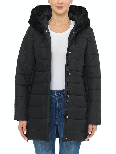 Puffer Coat Parka Jacket with Plush Lined Hood