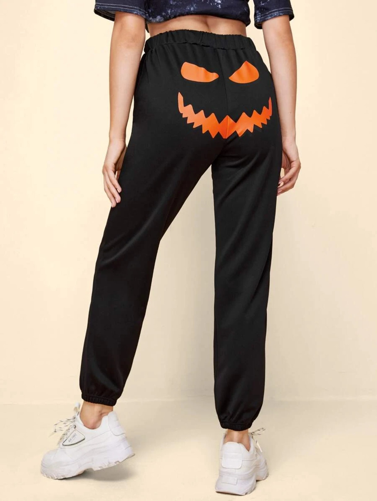 Romwe Halloween Graphic Sweatpants