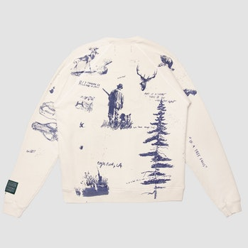 Reese Cooper Hand Drawn All Over Print Crewneck