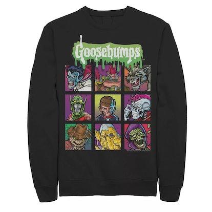 Licensed Character Men's Goosebumps Monsters Box Up Sweatshirt