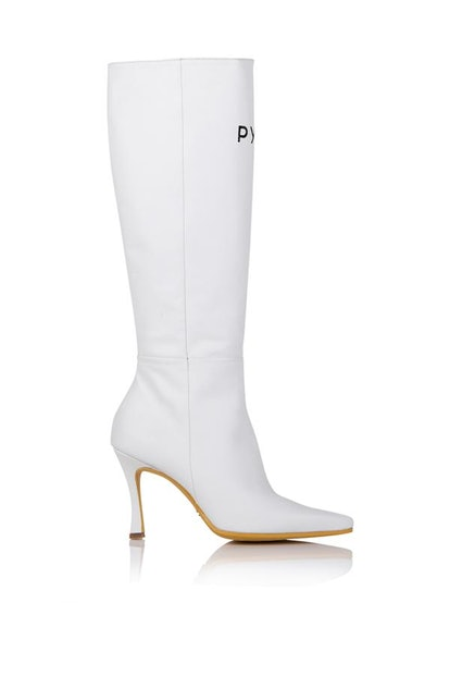 Tall Mamba Boot in White